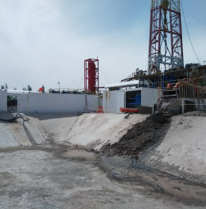gas field treatment site
